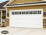 """Any Beauty 32-Pack Magnetic Garage Door Faux Windows(5 3/4"""" x 3 3/4), Black, Fake Decorations Window Panels for Garage Doors, No-Fade, Weather-Resistant, PVC Small Panels (2 Car Garage Kits)"""