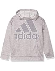 adidas Girls Hooded Fleece Tunic Pullover Sweatshirt