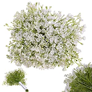 Euone Home Decor, Artificial Gypsophila Flower Fake Silk Wedding Party Bouquet Home Decor 44