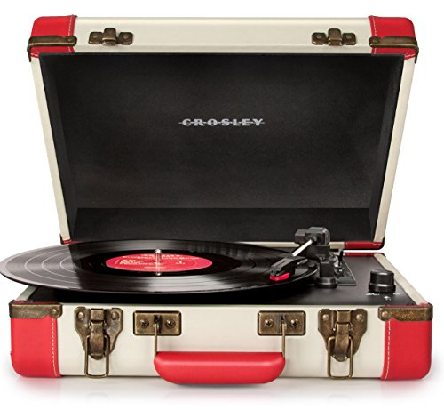 Crosley CR6019A-RE Executive Portable USB Turntable with