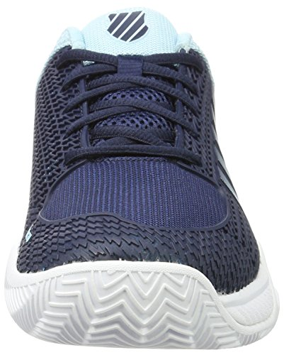 K-Swiss Performance Men's Express Light Hb Tennis Shoes, Neon Blaze/Black Multicolour (Black Iris/Blue Glow/ White 097m)