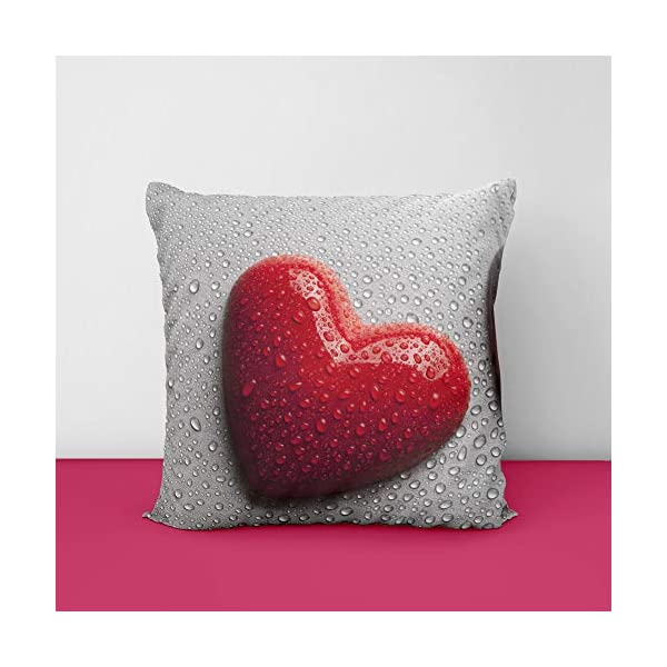 51oi4o5YpaL Valantine Heart Drop Square Design Printed Cushion Cover