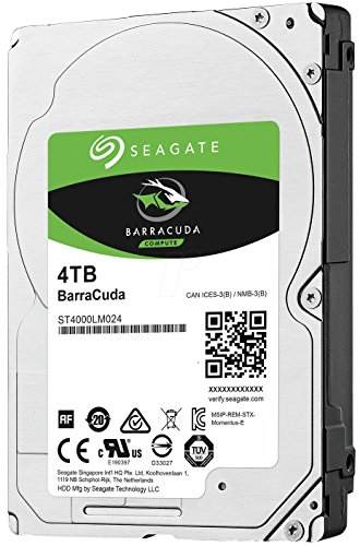 Seagate Barracuda ST4000LM024 4 TB 2.5'' Internal Hard Drive by Seagate