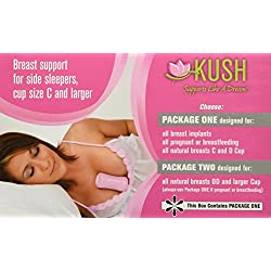 Pink Kush Support - FOR Women with Breast Implants (Kush Support Is Designed Specifically to Support C Cup or Larger Breasts) You Receive 2 Kush Supports ~ You Choose the Best Fit!