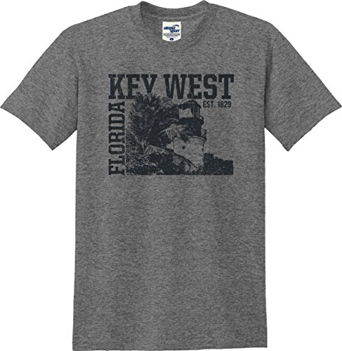 Utopia Sport Key West Florida Established 1829 Distressed T-Shirt (S-5X) (XXX-Large, Graphite Heather)