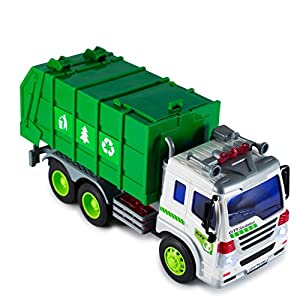 ToyThrill Friction Powered Garbage Sanitation Toy Truck with Lights and Sound: Best Gift for Toddlers & Kids Ages 3+ yrs
