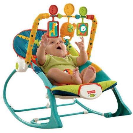 Fisher-Price Infant to Toddler Rocker Sleeper, Safari Pattern
