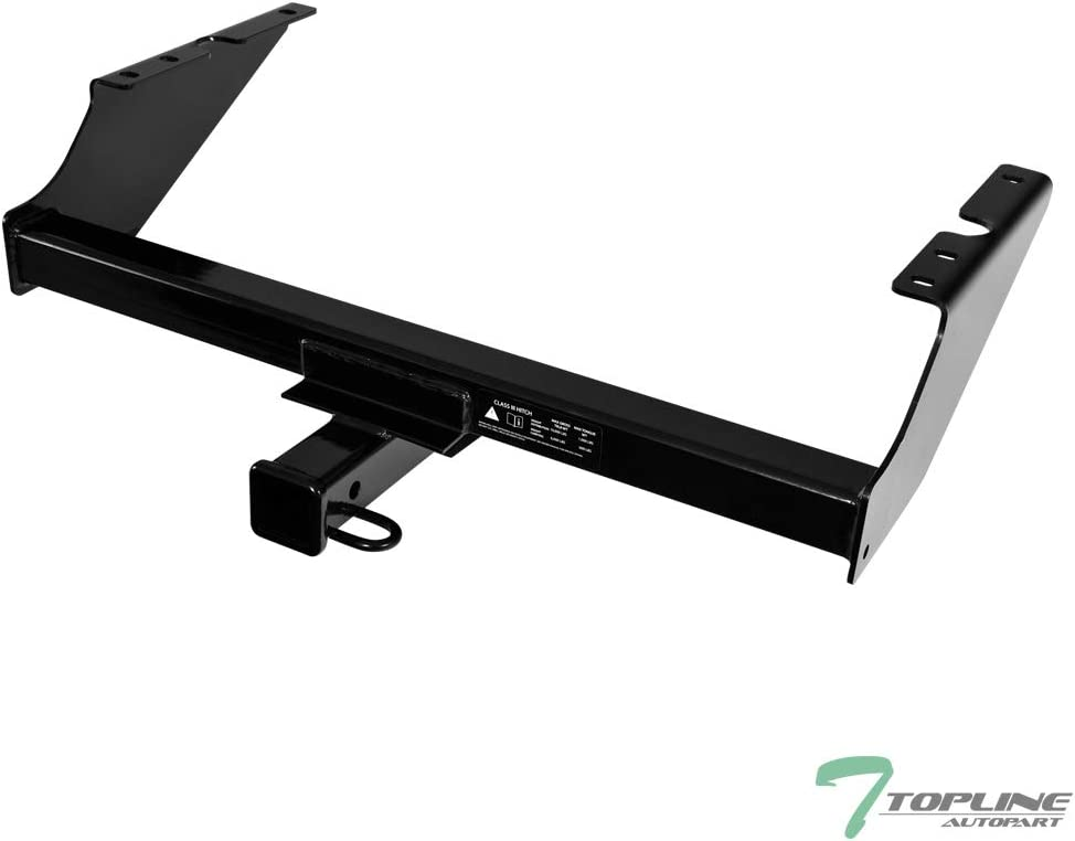 Topline Autopart Class 3 III Black 2 Rear Bumper Trailer Tow Hitch Towing Mount Receiver Tube With 2 Inch Drop Loaded Ball For 96-04 Nissan Pathfinder 97-03 Infiniti QX4
