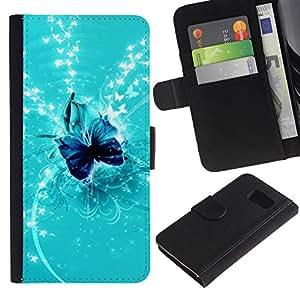 All Phone Most Case / Oferta Especial Cáscara Funda de cuero Monedero Cubierta de proteccion Caso / Wallet Case for Samsung Galaxy S6 // Nature Fish Friends