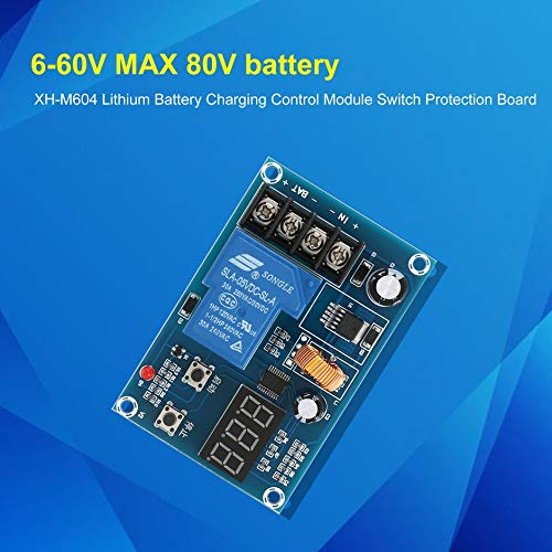 XH-M604 Lithium Battery Charging Control Module Switch Protection Board Blue