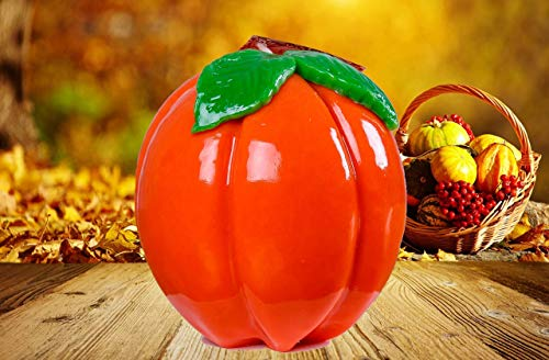 Decorative Candle - Handmade Candle - Hand Carved Candle - Shaped Like Pumpkin - Pumpkin Candle - Kitchen Decor - Village Decor - Halloween Party Decoration - Farm Style Decor - Original Gift Idea]()