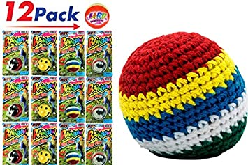 12 KICK BALLS WOVEN HACKY SACK FOOT BALLS BAGS HACKEY PARTY SUPER FAST SHIPPING