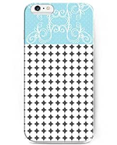 iphone 6 Case 5.5 Inch with Unique Design of Flower and White Cycles Pattern
