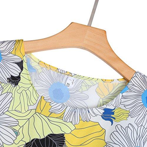 Robe Robe Col Robe Style Cocktail Femme Robe Femme Blanc U Plisse de Weant k Robe Chic Femme Robe Femme 60's 50's Bohme Floral Femme Soire de Vintage Rtro Jupe Imprim Soire PqHBB5wv