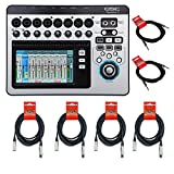 QSC TouchMix-8 Compact Digital Mixer CABLE KIT w/ XLR & 1/4'' Cables
