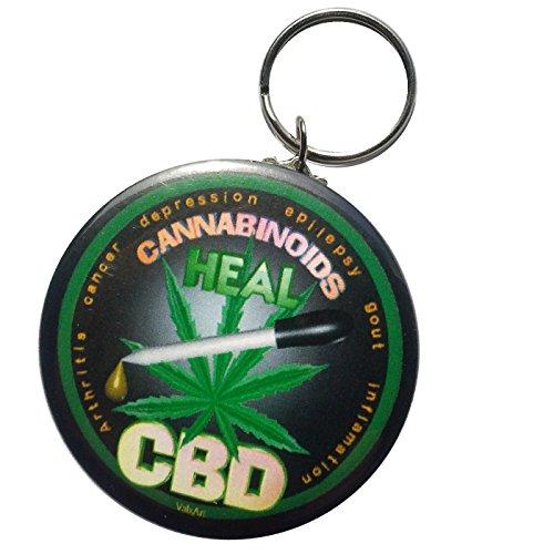 Words Cbd Cannabinoids Heals Keychain 2 25