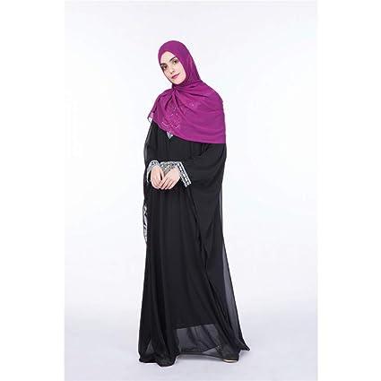 Cxlyq Vestidos Batas De Mujer Falda Larga De Gasa De Color Sólido Mangas Murciélago Falda Larga