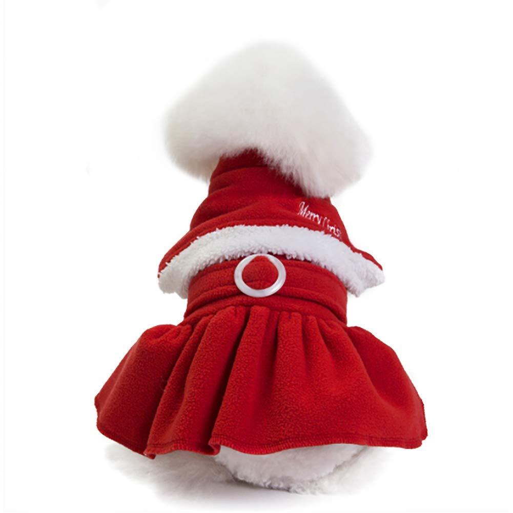 Yevison Premium Quality Christmas Santa Claus Adjustable Pet Clothes T-Shirt Cotton Clothes Dog Hoodie Coat