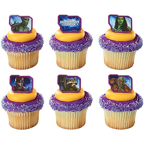 DecoPac Guardians of The Galaxy Cupcake Rings (12 Count) (Guardians Of The Galaxy Decorations)