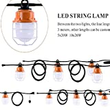 Sonmer 100W 5LED Temporary Construction Hanging Work String Lamp, Fixture 5700K Daylight 10400Lm