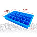Daixers Silicone Ice Cube Tray Molds,24-Cube Trays,Pack of 2 (Green & Blue)
