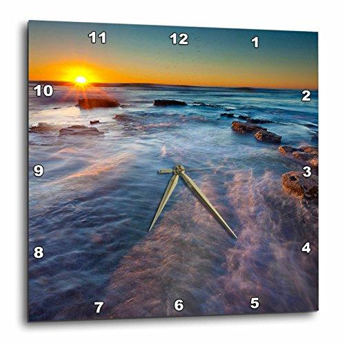 3dRose Pacific Ocean Near Sunset Cliffs in San Diego, CA-Wall Clock, 10-inch (DPP_208155_1)
