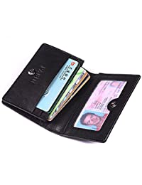 Pabin RFID Blocking Credit Card Holder Leather ID Case for Men (Classic Black)