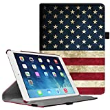 Fintie iPad Air 2 Case - Multiple Angles Stand Smart Protective Cover with Auto Sleep / Wake Feature for iPad Air 2, US Flag