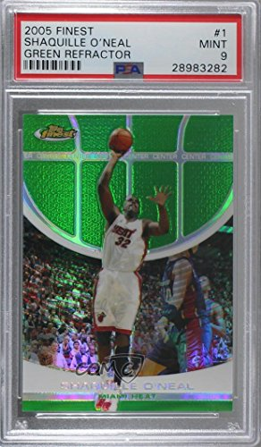 Shaquille O'Neal Graded PSA 9 MINT #41/89 (Basketball Card) 2005-06 Topps Finest - [Base] - Green Refractor #1