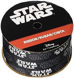 "Offray 154470 Star Wars Ribbon 1-1/2""X9', Black & White"