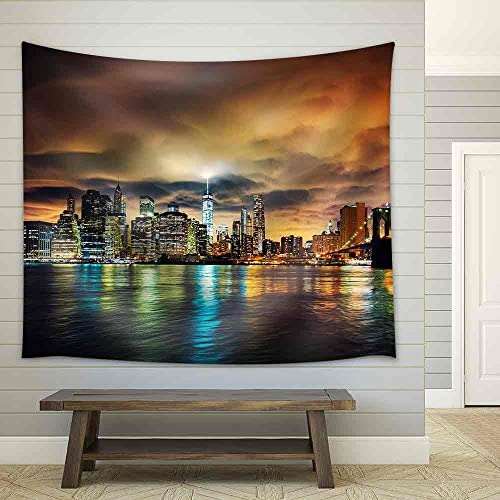 View of Manhattan at Sunset New York City Fabric Wall