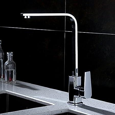 NewBorn Faucet Cuisine ou Salle de Bain évier Robinet mélangeur Le Quatuor de gérer l'eau sur l'évier de cuivre Plein Cold-Hot-intitulé « Lave-Vaisselle dans Une Baignoire Robinet de CU