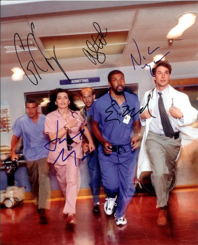 ER-TV-Series-with-George-Clooney-Cast-Signed-Autographed-8-X-10-Reprint-Photo-Mint-Condition
