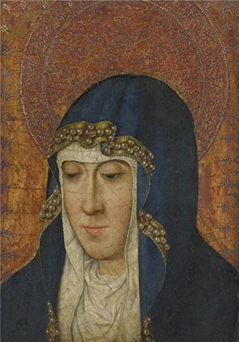 Oil Painting French The Virgin15th Century Printing On Perfect Effect Canvas 10xx36 Cm The Best Study Decor And Home Artwork And Gifts