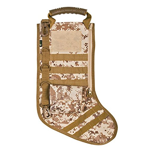 RUCKUP RUXMTSDDC Tactical Christmas Stocking, Full, Desert Digital (Camo Christmas Stocking)