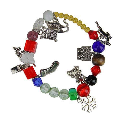 Roman The Night Before Christmas Glass Beaded Bracelet - Size Large