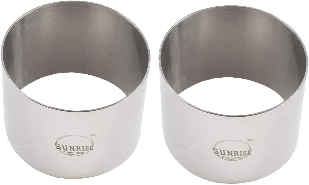 (Pack of 2) Round Food Ring, Stainless Steel (2.75