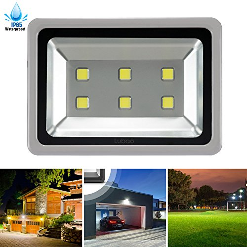 (LuBao 300W Led Flood Light 6 led lights 30000lm Waterproof Super Bright 6000K White Light Spotlights Flood Lamp,120-Degree Beam Angle Wall Lights for Outdoor Garden Landscape Playground ...)