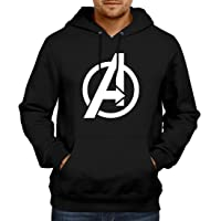 WearIndia Super Hero Avenger Printed Unisex Pullover Cotton Hoodies Sweatshirt for Men and Women/Printed Red Hoodie/Graphic Printed Hoodie/Hoodie for Men & Women/Warm Hoodie/Unisex Hoodie