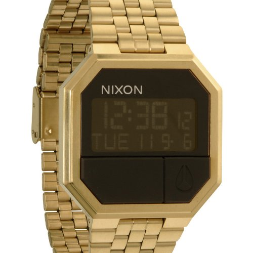 Nixon Re-Run Black Dial Stainless Steel Mens Watch A1581502 by NIXON (Image #1)
