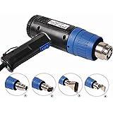 Dual Temperature Hot Air Heat Gun Blower + 4 Nozzles Power Heater