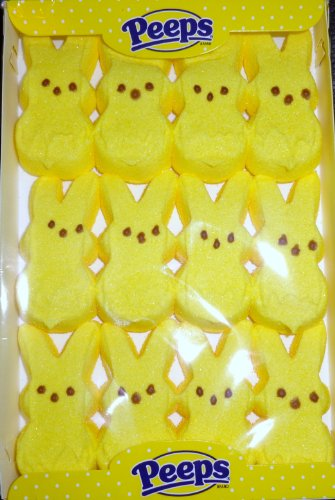 PEEPS Yellow Bunnies (2 Pack) 24 total (Peeps Bunny)