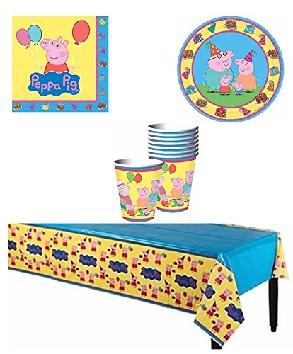 Peppa Pig Party Supply Pack for 8 Guests by BirthdayExpress