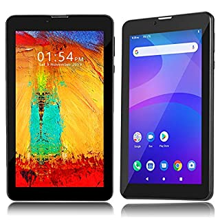 Indigi Unlocked 4G LTE 7-inch Official Android Pie TabletPC & Smartphone 4Core (2GB RAM/16GB ROM + Dual SIM Slots) (Black)