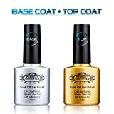Perfect Summer Clear Base Coat And Top Coat Set - UV/LED Soak Off Gel Nail Polish Set,10ml each