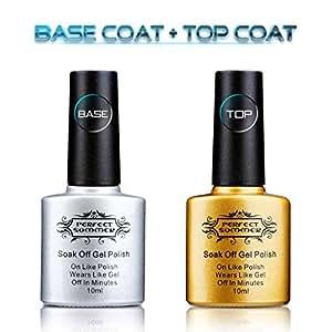 Amazon.com : Perfect Summer Clear Base Coat And Top Coat ...