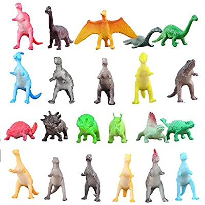Dinosaur Figure,72 Piece Mini Dinosaur Toy Set,Great Safety Material Assorted Vinyl Plastic Dinosaur,Zoo World Dino Dinosaur Playset Toys For Boys Cupcake Toppers Party Favors Learning Resources by ValeforToy