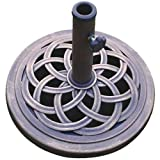 #1: DC America UBP18181-BR 18-Inch Cast Stone Umbrella Base, Made from Rust Free Composite Materials, Bronze Powder Coated Finish
