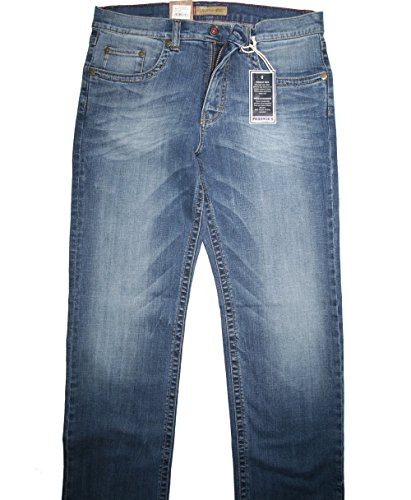 Paddocks Stretch Jeans Carter blue stone + moustache using extra lang - 4340