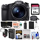 Sony Cyber-Shot DSC-RX10 IV 4K Wi-Fi Digital Camera with 64GB Card + Case + Flash/Video Light + Battery & Charger + Tripod + 3 Filters + Kit